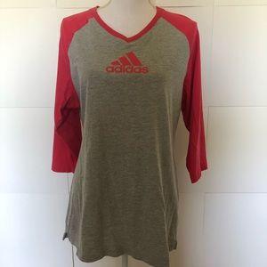 Adidas sweatshirt gray and pink womens XL